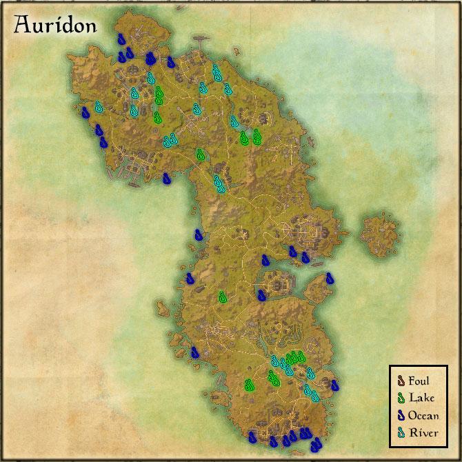 Auridon - Fishing Holes